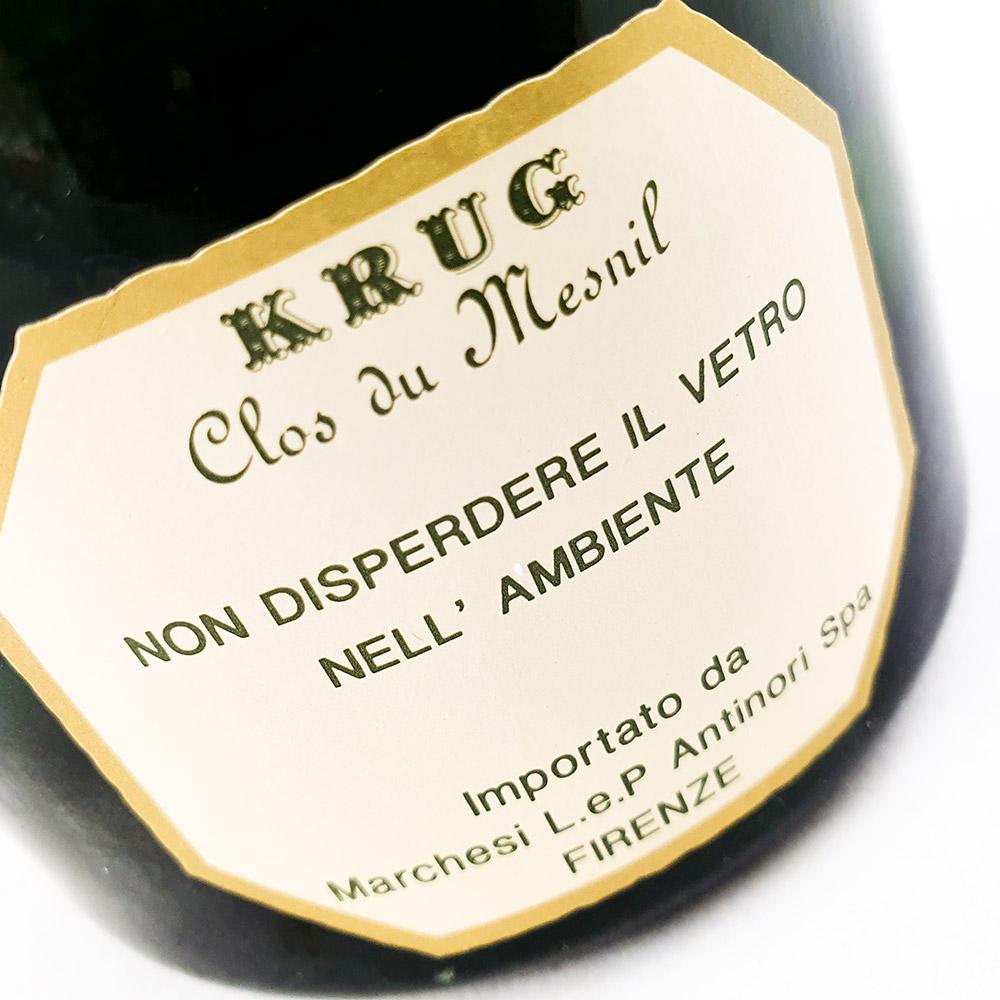 Krug Clos du Mesnil Blanc du Blancs 1983 in OWC