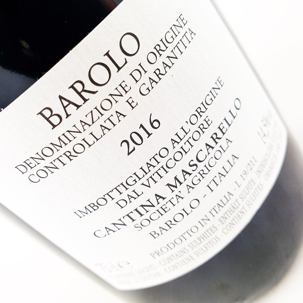 Bartolo Mascarello Barolo Artist Label 2016