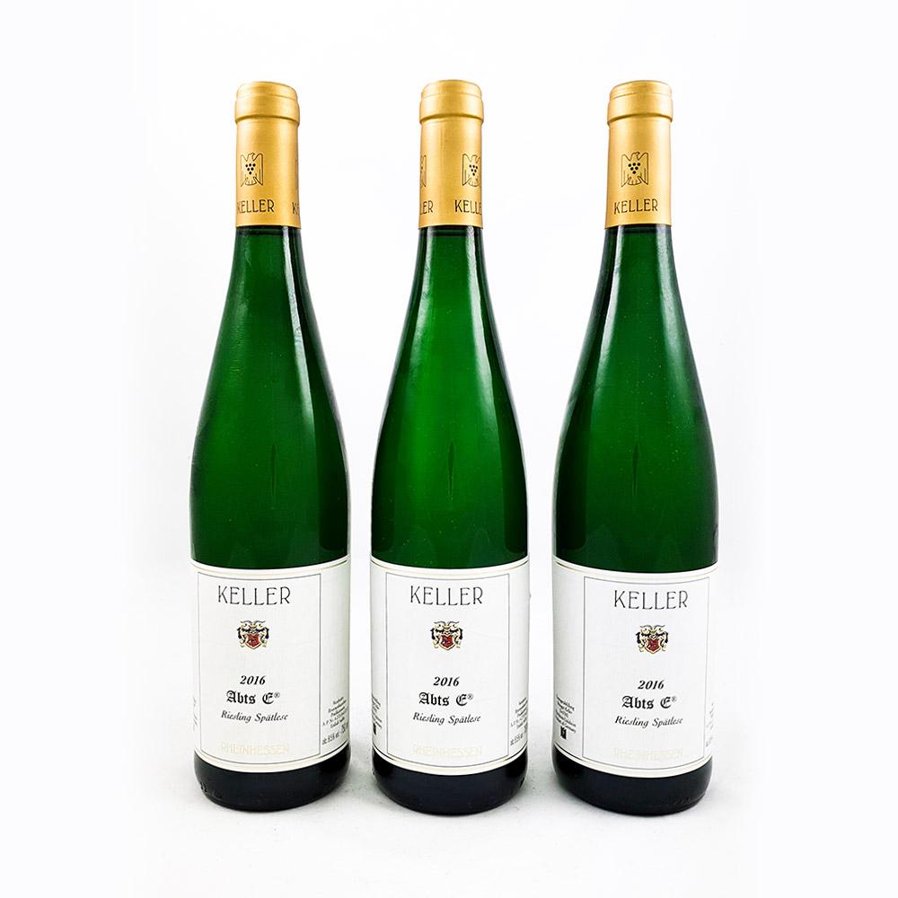 LOT #77 - 3 x Weingut Keller AbtsE Spätlese Goldkapsel 2016 Kopie
